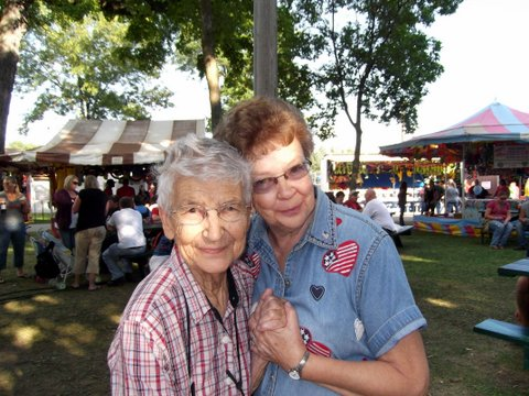 Enid and Betty at the Fair
